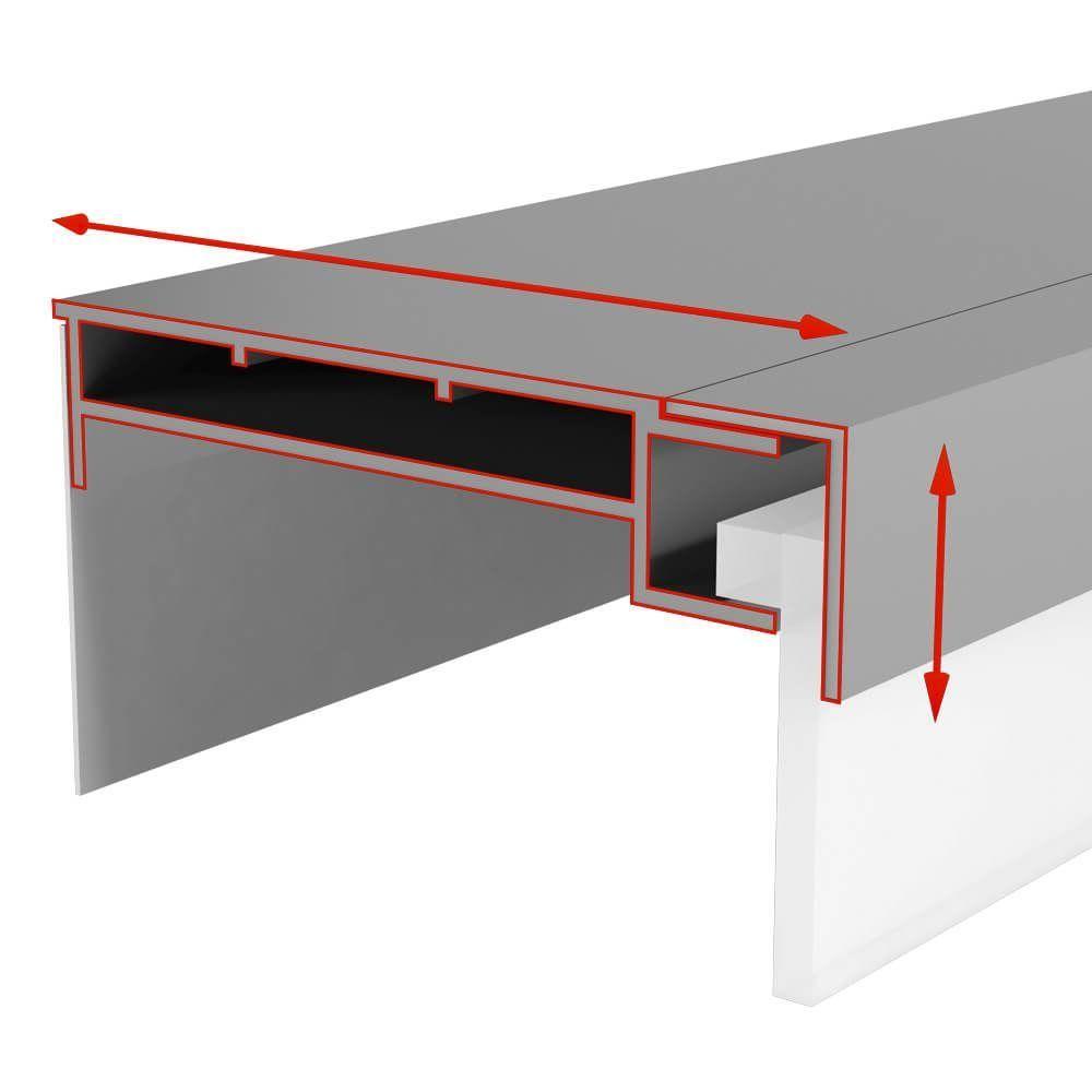led leuchtkasten mit scheibe wts 100 4000 mm breiten g nstig. Black Bedroom Furniture Sets. Home Design Ideas